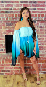 Ocean Dreams Blue Ombre Mini Dress