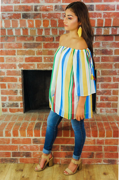 Summer On My Mind Multi Striped Top