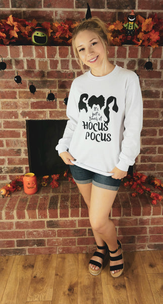 It's Just A Bunch Of Hocus Pocus Long Sleeve-White