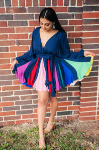 Wanderlust Rainbow Arc Mini Dress