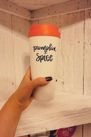 Pumpkin Spice Wishes Travel Mug