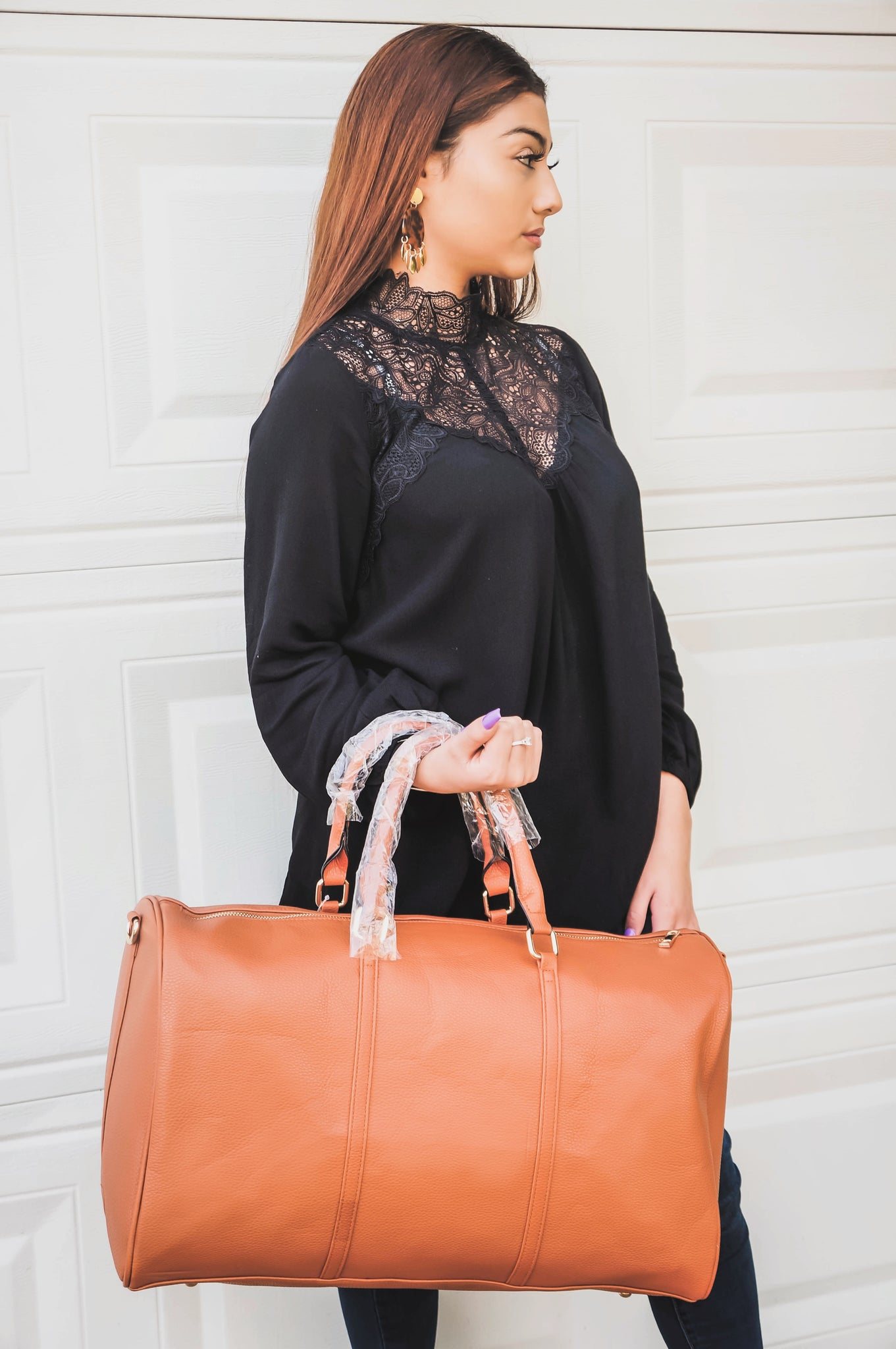 Just Hit Refresh Caramel Weekender Bag