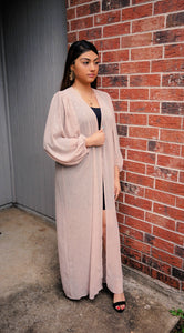 A Gatsby Dream Rose Shimmery Duster