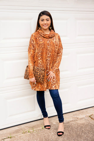Take A Walk On The Wild Side Snake Print Tunic