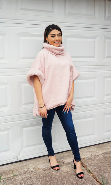 Cotton Candy Crush Sherpa Pullover Sweater