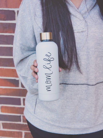 Mom Life Metal Water Bottle