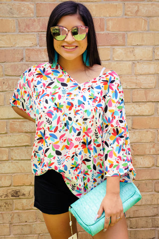 Catch Me in Cabo Tropical Print Tunic Top