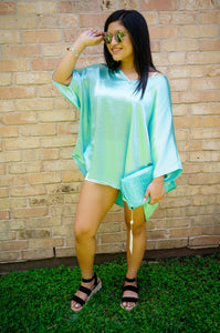 Sea Glass Treasures On The Shores Of Rodanthe Aquamarine Tunic Top