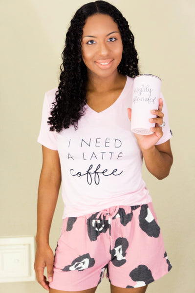 Need A Latte Coffee Comfy Tee