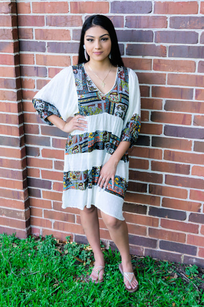Seaside Boho Babe Shift Dress