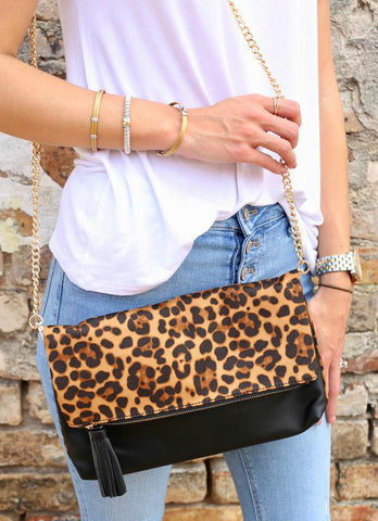 Compared To The Rest Leopard Crossbody Clutch