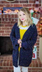 Snowy Mornings In Telluride Chenille Confetti Cardigan