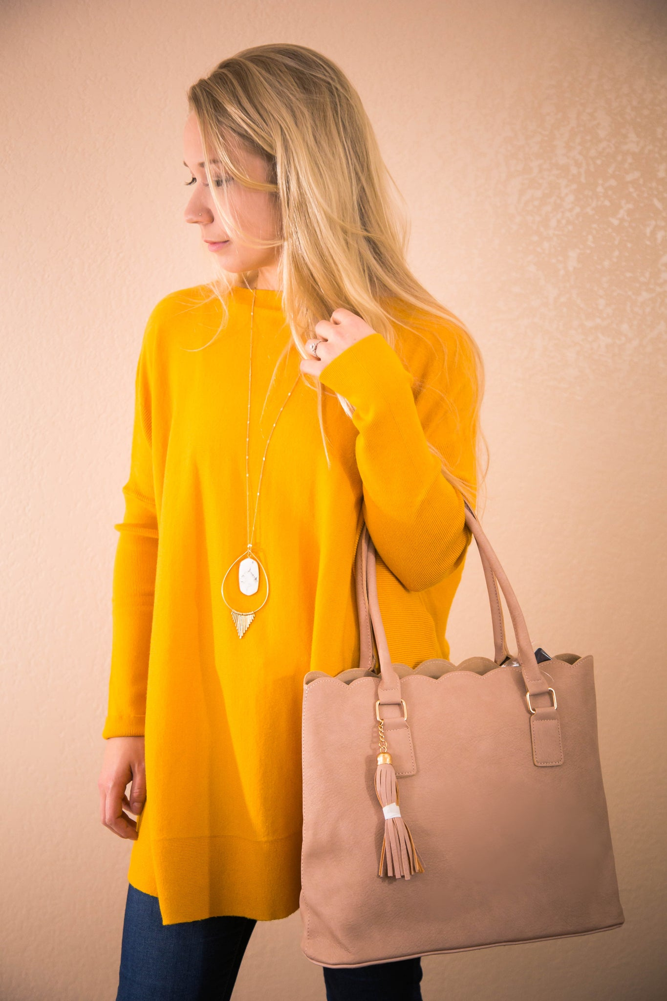 Easy Like Sunday Morning Goldenrod Yellow Tunic