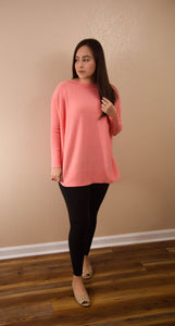 Easy Like Sunday Morning Coral Pink Tunic