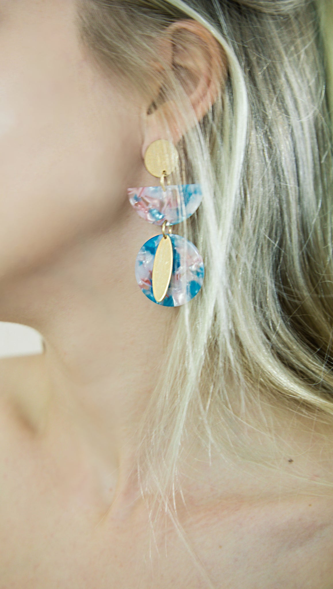 It Was All A Dream Layered Earrings-Cotton Candy