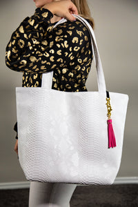 Snow Python Daykeeper Tote by Makeup Junkie