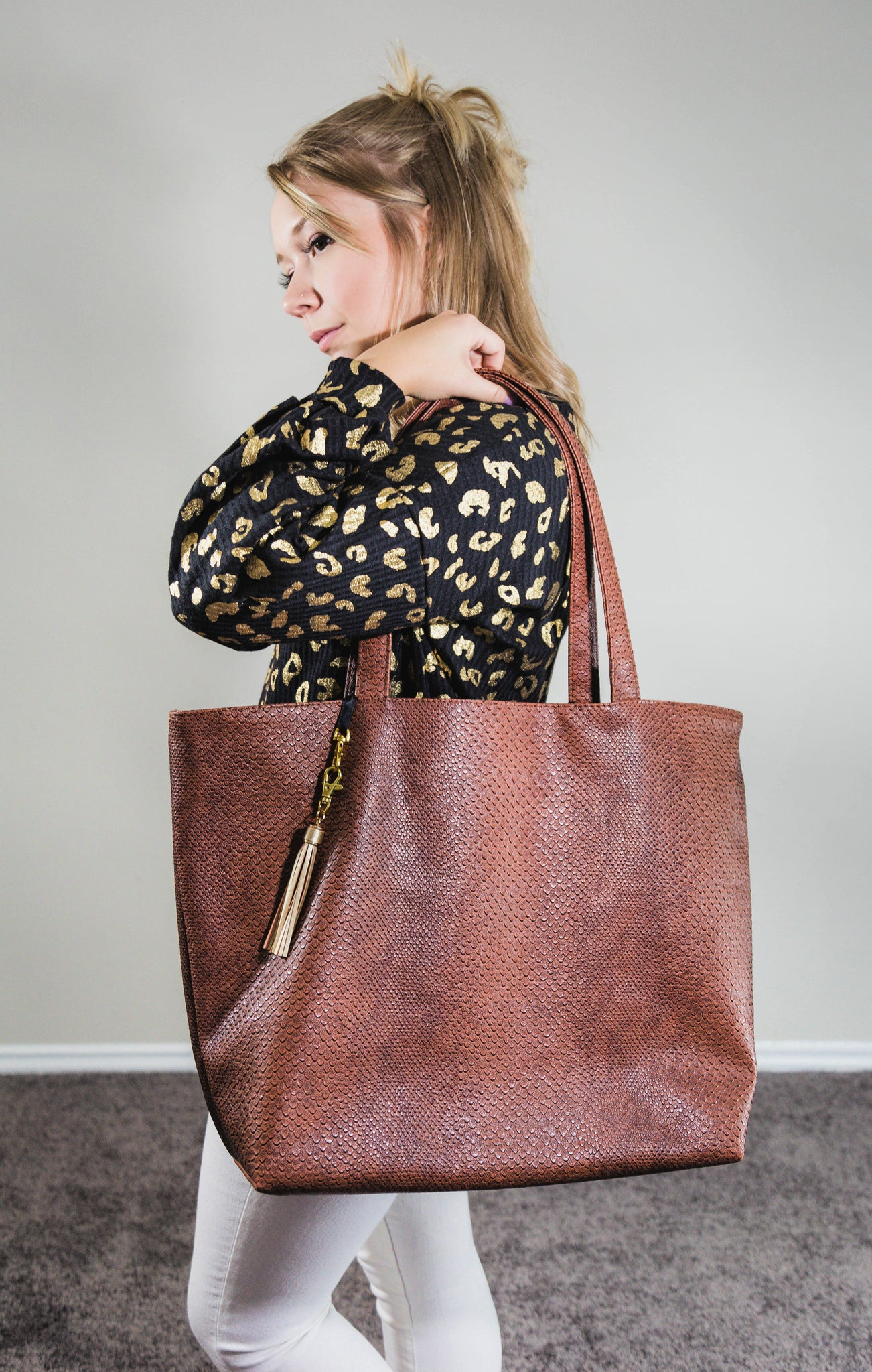 Chocolate Cobra Weekender Tote by Makeup Junkie
