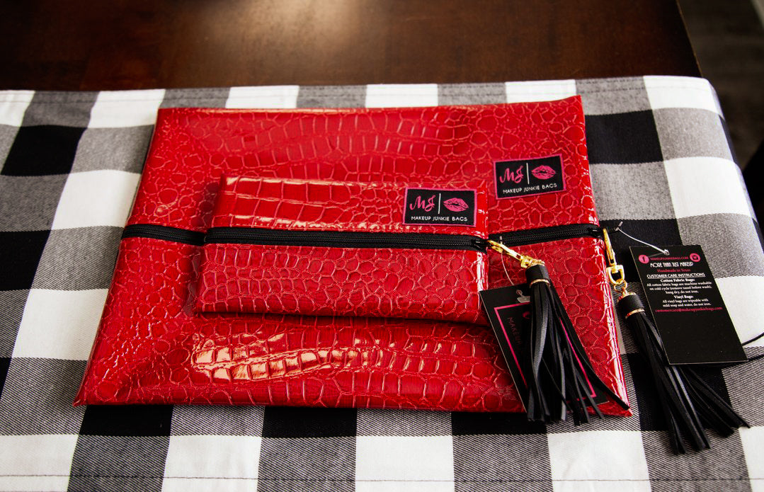 Vixen Red Makeup Junkie Bag