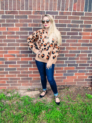 Wild About You Leopard Print Sweater