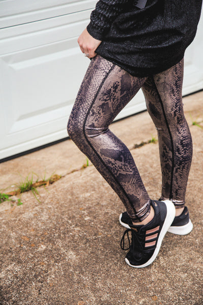 Chic & Sassy Copperhead Snake Print Leggings
