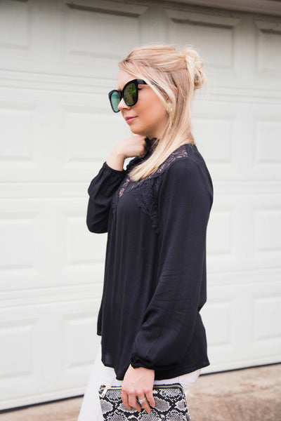 She's All That & More Black Lace Top