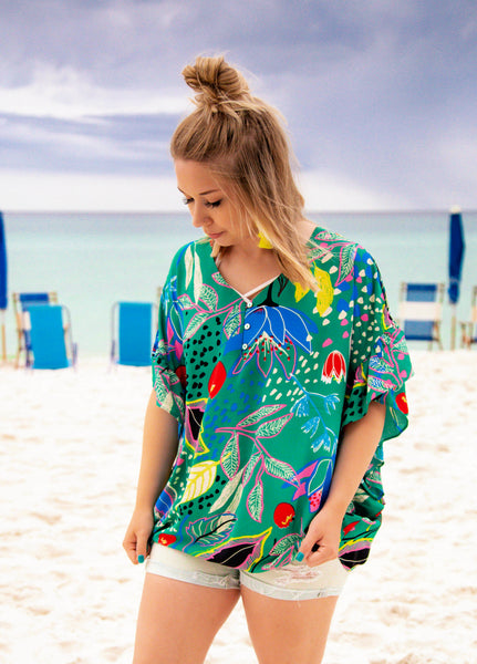 Moroccan Dreams On The Cliffs of Lagos Shift Top