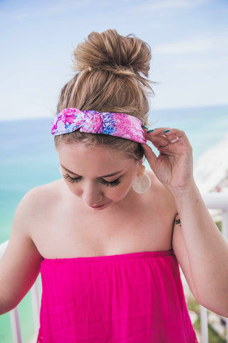 Say That You Love Me Tie Dye Headband-Cotton Candy Mix