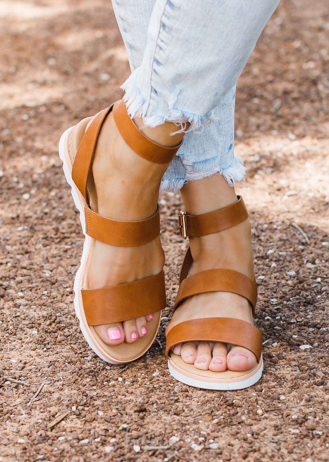 The Maribel Sandal in Tan