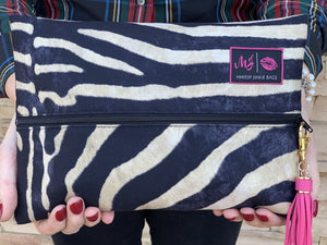 Safari Domino Makeup Junkie Bag