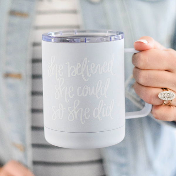 She Believed She Could So She Did Stainless Steel Mug