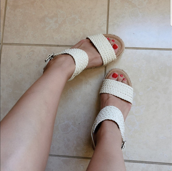Work With It White Espadrille Sandals