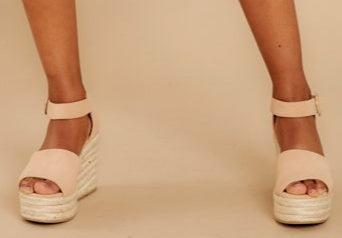 Sweet Latte Kisses Espadrille Wedges
