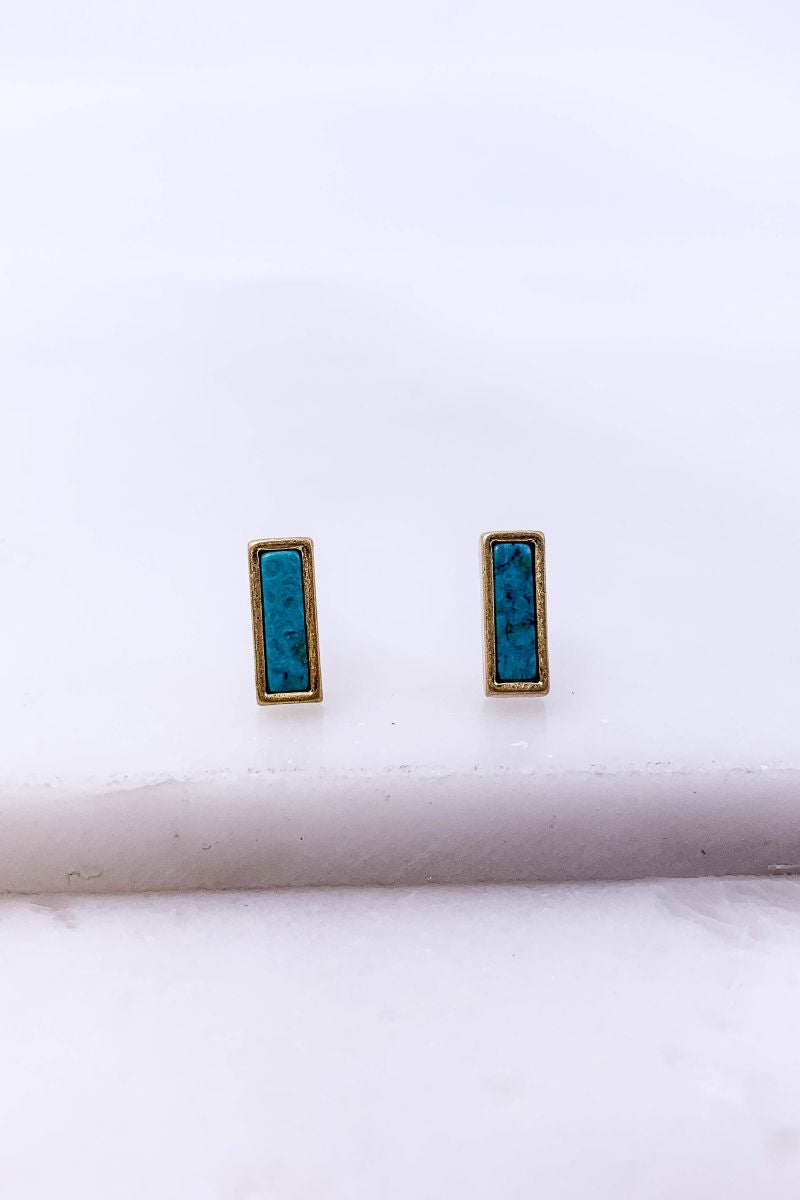 Chic Office Stud Earrings-Turquoise