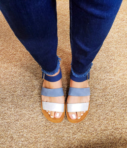 """A Denim Dream Come True"" Sandals-Shades of Blue"