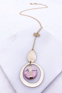 Brunch Babe Weekender Pendant Necklace-Blush Pink