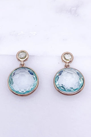 Casual Chic Sparkle Earrings- Baby Blue