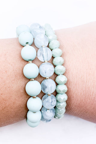 Spring Has Sprung Bracelet Set-Mint
