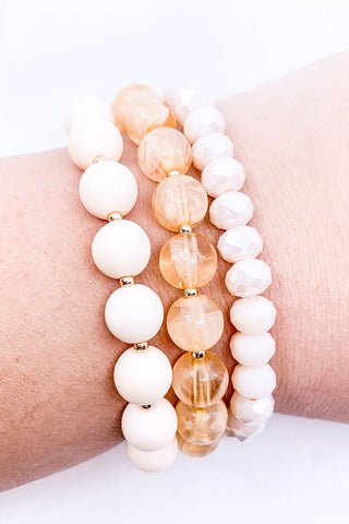 Spring Has Sprung Bracelet Set- Peach