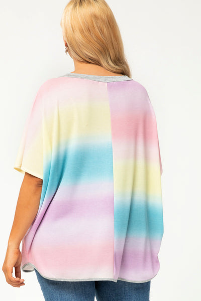 You Spin Me Right Round Multi Tie Dye Top