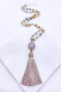 Forever & A Day Taupe Tassel Necklace
