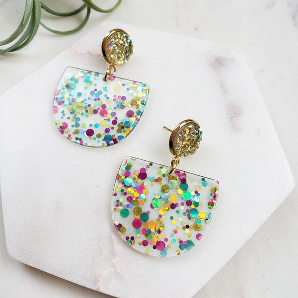 Lola Earrings- Confetti