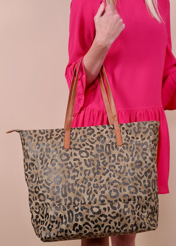 The Leighton Leopard Tote