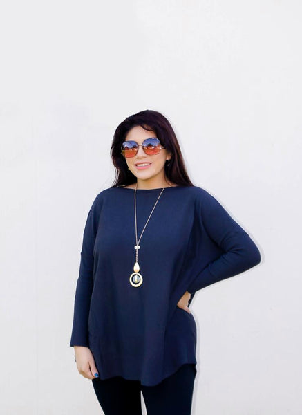 Easy Like Sunday Morning Charcoal Tunic