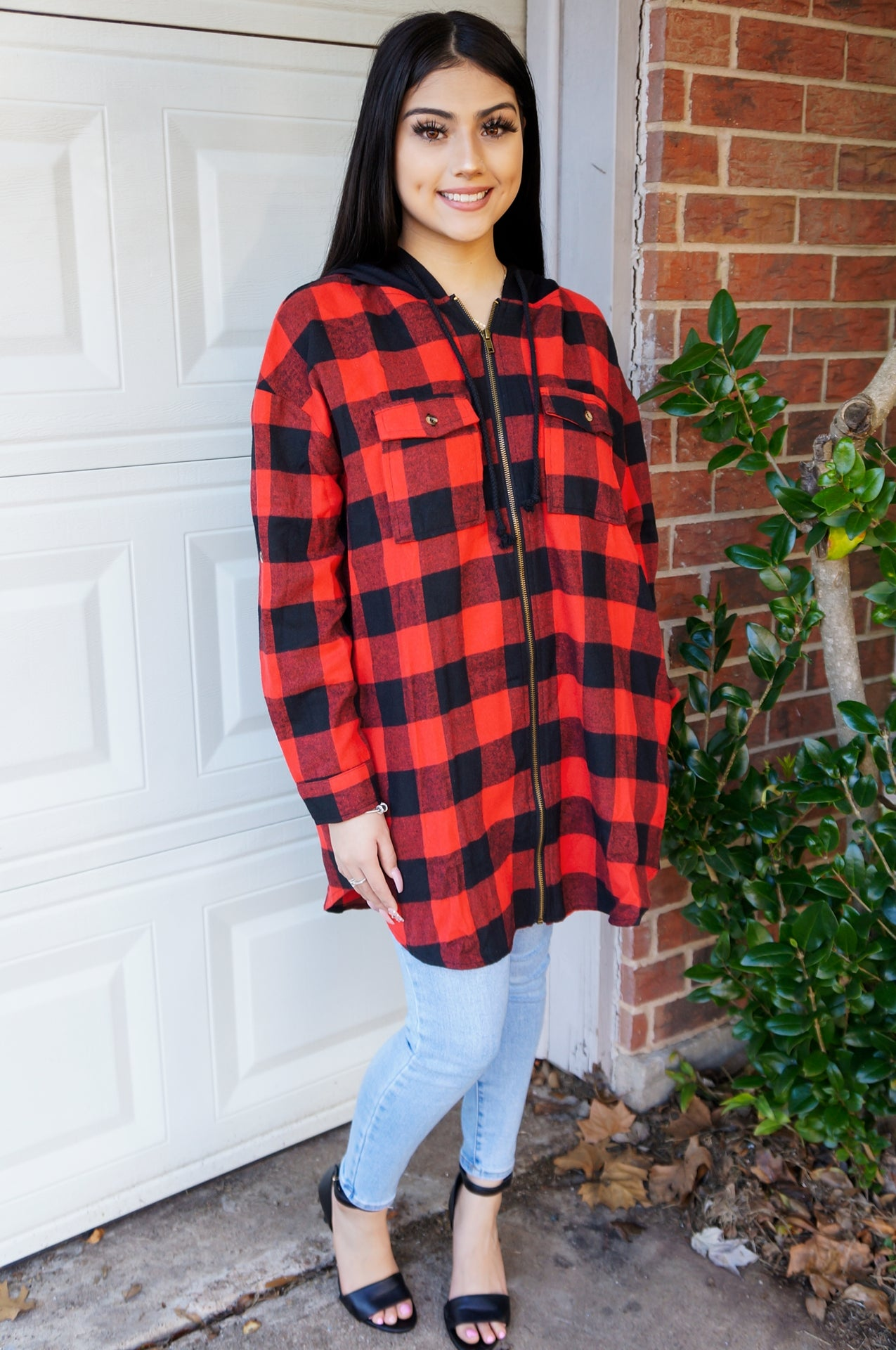 Cozy Campfire Nights Lightweight Buffalo Jacket