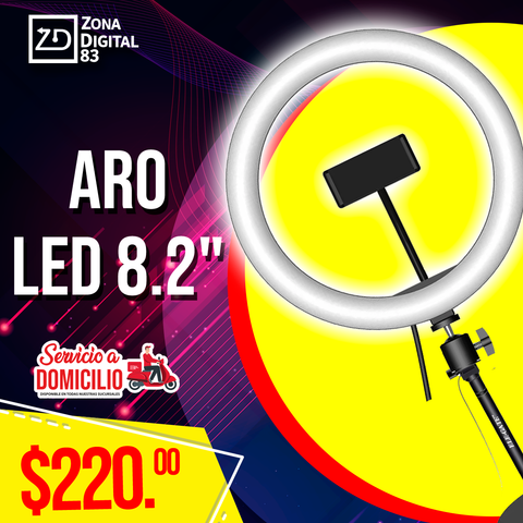 "ARO LED DE 8.2"" CON BASE"