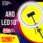 "ARO LED DE 10"" CON BASE"