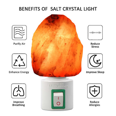 HIMALAYAN SALT LAMP – SALT CRYSTAL NIGHT LIGHT