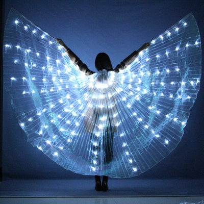 LED BUTTERFLY WINGS – 360 DEGREES COSTUME WINGS – LIGHT UP WINGS