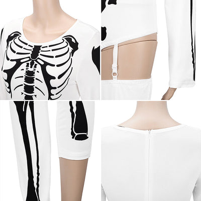 HALLOWEEN X-RAY SKELETON AND BAT JUMPSUITS FOR WOMEN
