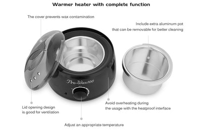 PREMIUM WAX WARMER – PROFESSIONAL WAX BEANS EPILATOR BUNDLE
